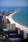 Luftaufnahme vom Strand auf Marco Island, Florida, USA