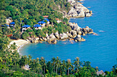 The chalets of Coral Cove Resort are situated on a small secluded beach between Lamai and Chaweng. Koh Samui, Thailand
