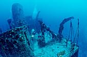 Maldive Victory and scuba diver, Maldives, Indian Ocean, North Male Atol, Hulule