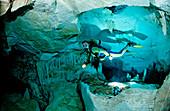 Hoehlentauchen Cueva Taina, Punta Cana, Suesswasser, Dominikanische Republik
