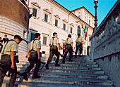 Quirinal Palace and changing of the guard, Rome, Italy