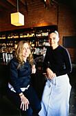 Sommelier Caroline Styne (left) & chef Suzanne Goin (right), Restaurant AOC, L.A., Los Angeles, California, USA