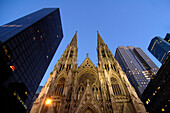 Rockefeller Center and St Patricks Cathedral, New York City, New York, USA