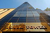 View of Trump Tower, New York City, New York, USA