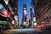 Times Square at night, New York City, New York, USA