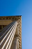 Columns of Meininger Theater, Meiningen, Rhoen, Thuringia, Germany