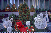 Holiday decoration on 6th Avenue, Avenue of the Americas, Manhattan