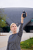 Woman with light meter, Luxembourg
