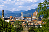 Cityscape of Florence with Cathedral, Santa Maria del Fiore, Florence, Tuscany, Italy