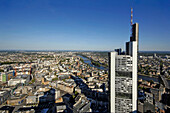 Panorama of Frankfurt with Commerzbank, Frankfurt am Main, Hesse, Germany