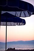 Sunshades on the beach, Kos, Greece