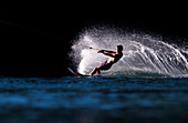Man water skiing, Immenstadt, Bavaria, Germany