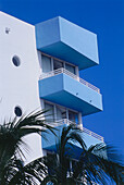 Exterior architecture, Ocean Drive, South Beach, Miami, Florida, USA