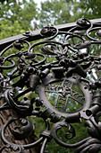 Ornamental Gate of Schloss Aschach Castle, Near Bad Bocklet, Rhoen, Bavaria, Germany