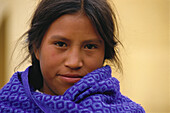 Portrait of a Mexican girl, Mexico, Central America, America