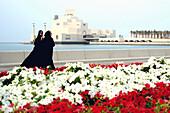 Two women at the Museum of Islamic Arts, Doha, Qatar