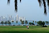 View of Doha Bay and skyline, Qatar