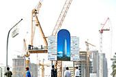 Baustelle in Doha, Katar, Qatar