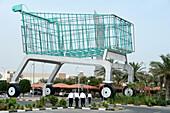 Worlds largest Shopping Trolley, Shopping Mall, Hyatt Plaza, Doha, Qatar