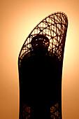 Sports City Tower at sunset, Doha, Qatar