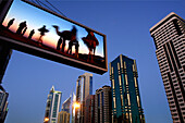 Sheik Zayed Road with architecture, Dubai, Composite, United Arab Emirates, UAE