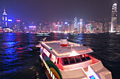 Star Ferry Pier with boat, Hong Kong, China
