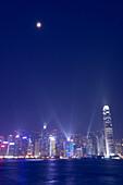 Illuminated Skyline and laser show, Hong Kong, China