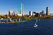 Stadtansicht von Boston, Back Bay und Charles River, Boston, Massachusetts, USA