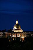 State House bei Nacht, Boston, Massachusetts, USA