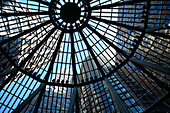 View of office buildings through a glass dome, International Place, Boston, Massachusetts, USA