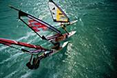 three windsurfers, Hurghada, Egypt