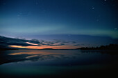 Evening sky with northern lights, Aurora