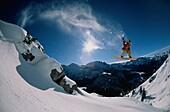 Snowboarding, Jenner, Berchtesgaden, Bavarian, Germany