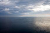 Overcast sky over seascape, Rugen island, Mecklenburg-Western Pomerania, Germany