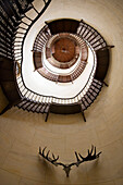 Spiral staircase, Hunting lodge Granitz, Lancken-Granitz, Rugen island, Mecklenburg-Western Pomerania, Germany