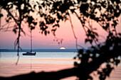 Sundown, Lieper Winkel, Usedom, Baltic Sea, Mecklenburg-Western Pomerania, Germany