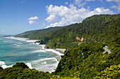 Pacific Coast Highway No. 6, coastal rainforest, near Punakaiki National Park, north of Hokitika, Westcoast, South Island, New Zealand