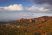 View of Las Medulas, old Roman gold mine, Castilla Leon, Spain
