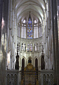 Inside Amiens Cathedral with vault, chancel, Amiens, Department Somme, France, Europa