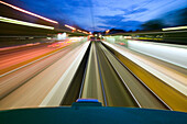 view from roof of moving tram, speed, mobility, local public transport, üstra, Hanover, Lower Saxony, Germany