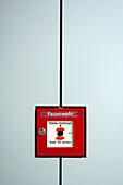 Fire alarm, Museum for Modern Art, Frankfurt, Hesse, Germany