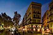 Casa Bruno Cuadros, La Rambla, avenue, Modernism and Eclectisism by Josep Vilaseca, Barri Gòtic, gothic quarter, Ciutat Vella, Barcelona, Catalonia, Spain