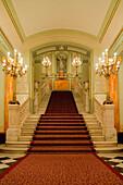 Staircase, Gran Teatre del Liceu, opera house, La Rambla, Ciutat Vella, Barcelona, Catalonia, Spain