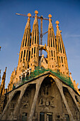 La Sagrada Familia, architect Antoni Gaudi, Modernism, Eixample, the town´s landmark, Barcelona, Catalonia, Spain