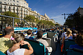 Bus Turistic, sightseeing, Passeig de Gracia, Eixample, Barcelona, Spain