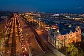 Passeig de Colom, Mol de la Fusta, stattliches Gebäude des Port de Barcelona, Hafen, Port Vell, alter Hafen, Ciutat Vella, Barcelona, Katalonien, Spanien