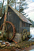 Old Mll in Wintertime, Kirnbach Valley, near Wolfach, Black Forest, Germany