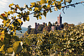 Ortenberg Castle with vintage, near Offenburg, Black Forest, Baden-Wuerttemberg, Germany