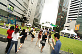 People on Raffles Place, Central Business District, Singapore