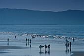 Beach, Hendaye, Basque Country, Atlantic Coast, France